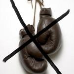 Rangez les gants de boxe